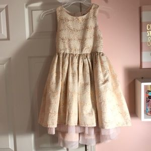 Pink and gold child dress